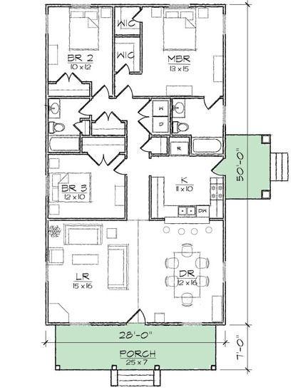 Plan 10044tt Compact Starter Or Retirement Home Plan Retirement House Plans House Plans Bungalow Style House Plans