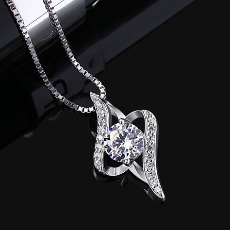 B.Catcher Twist Silver Pendant Jewelry 925 Sterling Silver Wedding Gifts Fine Jewellery -- Hope you actually do like our picture. (This is an affiliate link) #necklaces
