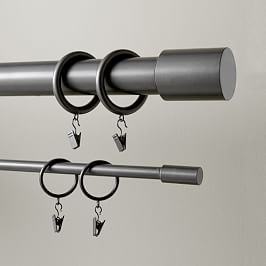 Harmony U Shaped Sectional Metal Curtain Curtain Rings With Clips Curtains With Rings