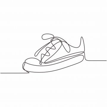 Fitness Art Vector One Line Of Shoe Continuous Drawing Minimal Design On White Background Vector Illustratio Line Art Vector Line Art Drawings Minimal Design