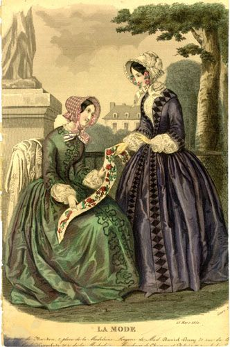 Fashion Plate: March 1850 (LA MODE)