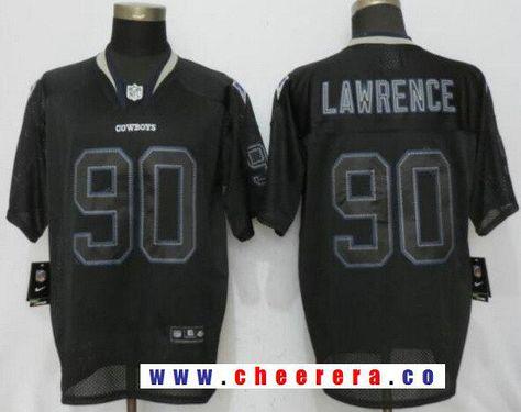 Men s Dallas Cowboys  90 Demarcus Lawrence Lights Out Black Stitched NFL  Nike Elite Jersey 7489c4bd6