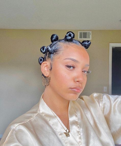 Bantu Knot Hairstyles, Baddie Hairstyles, Black Women Hairstyles, Bantu Knots Short Hair, Black Girl Natural Hairstyles, Bantu Knot Styles, Big Chop Hairstyles, Braided Ponytail, Curly Hair Styles
