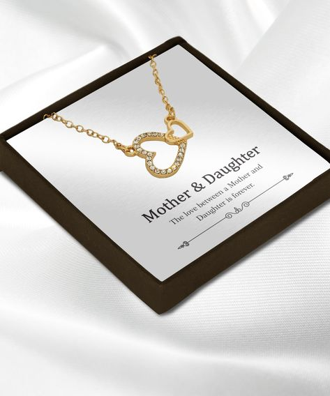 The love between mother and daughter is forever necklace jewelry gift ideas