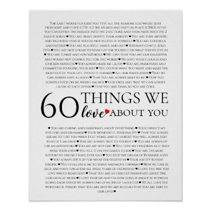 60 Things We Love About You Poster