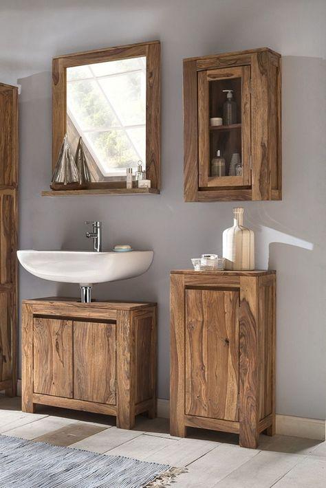 Waschbeckenunterschrank Leeston In 2020 Badezimmer Unterschrank Badezimmer Und Badezimmer Rustikal