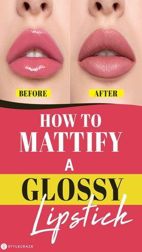 Mattify A Glossy Lipstick A Step By Step Tutorial Glossier