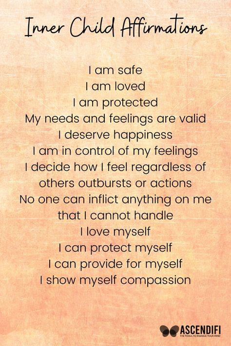 Positive Affirmations for your Inner Child, Click to read 5 Ways to Connect to your Inner Child