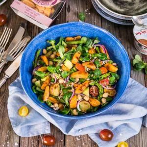 Pastagratang Med Falukorv Och Broccoli Getost Potatissallad Sallad