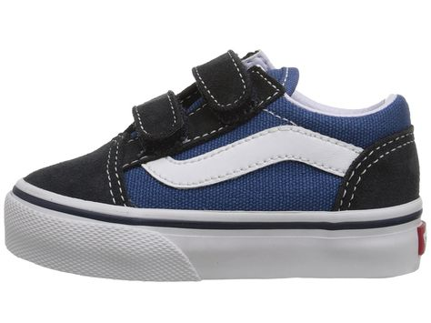 29b3f553139766 Vans Kids Old Skool V Core (Toddler) Kids Shoes Navy