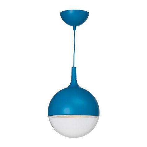 VÄSTER Candeeiro suspenso LED - azul - IKEA