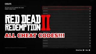 Every Cheat Code In Red Dead Redemption 2 All Cheat Codes Rdr2 Red Dead Redemption 2 In 2020 Red Dead Redemption Ii Red Dead Redemption Redemption