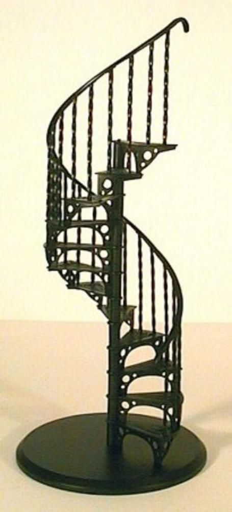 Dolls House Spiral Staircase Kit Metal 1 12 Scale Miniature Stairs | Spiral Staircase For Sale Ebay | Stair Railing | Stair Case | Wrought Iron Spiral | Handrail | Attic Stairs