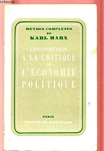 Ontargetpdfbook Petra Contribution A La Critique De L Economie Politique En 2020 Listes De Lecture Critique Economie Politique