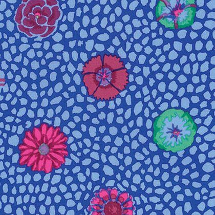 Coupon de tissu patchwork kaffe fassett Japonese chrysanteme rose 45x55cm