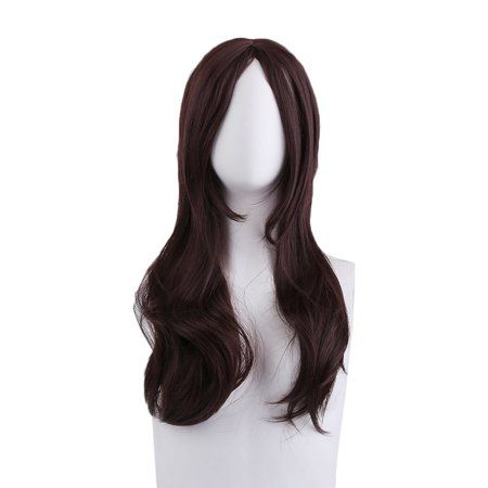 Curly Wigs Fei-show Synthetic Heat Resistant Fiber Long Light Brown Hair Salon Inclined Bangs Hairpiece Costume Cos-play Hairset Synthetic None-lacewigs Hair Extensions & Wigs