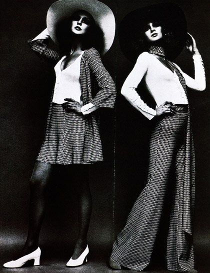 Influential Designers - Biba Before H, Topshop, or Forever 21 there was Biba; the first high fashion, low price point line of clothes aimed at teenagers. The affordable couture recreations are recognizable by their drab, muddied color palette of brown, sepia, gray and plum. Long tight sleeves, short hemlines, and high shoulders define Biba's swinging London look.