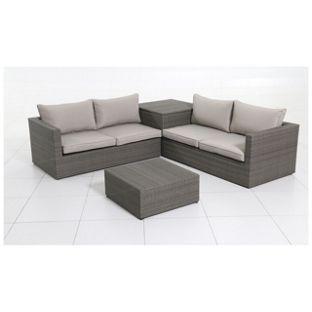 Buy Rattan 4 Seater Garden Corner Sofa and Table Set at Argos.co.uk ...