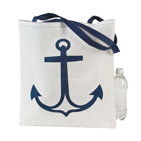 "Party anchor DG sorority 10 Nautical Gift Bag measures 5/"" x 5/"" x 2/"" deep"