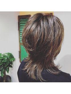 セミウルフカット 髪型 ヘア アイディア ヘアスタイル