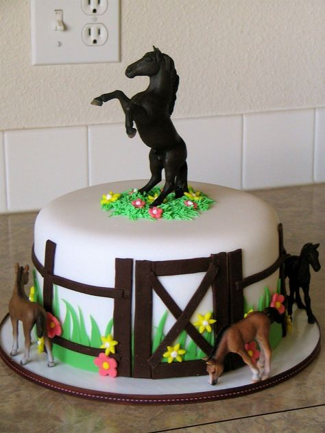 Magnificent 24 Excellent Picture Of Birthday Horse Cake Countrydirectory Birthday Cards Printable Giouspongecafe Filternl