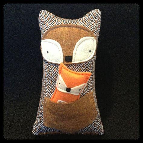 Foxy Mama & Baby Softie Recycled Fabric and Eco Felt