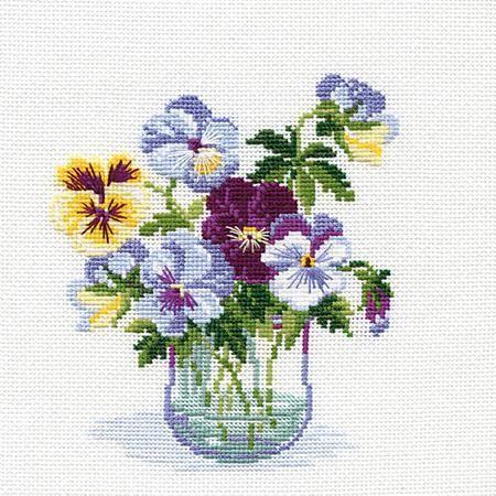 Riolis Scottish Heather Flowers Cross Stitch Kit In 2020 Cross Stitch Flowers Cross Stitch Cross Stitch Embroidery
