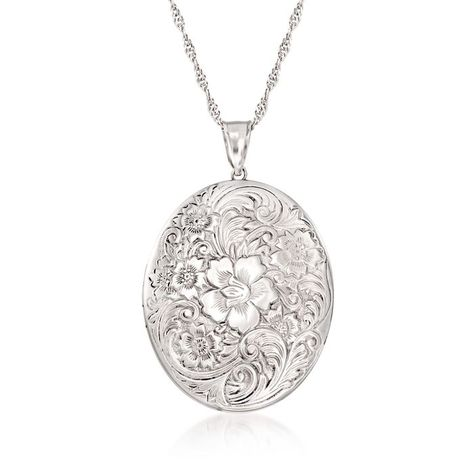 1ba4e0759b555 Victorian Silver Oval Locket With Applied Gold Details