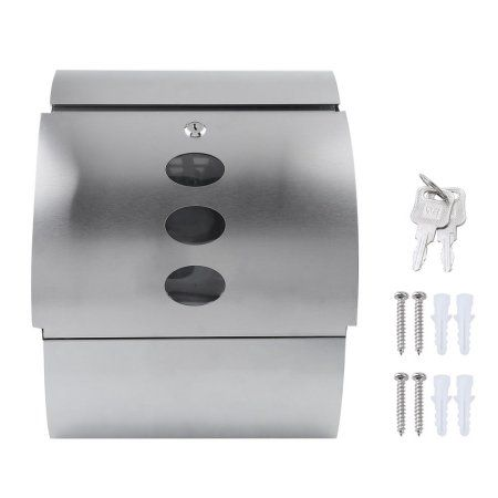 Wall Mounted Mail Box Lightweight Letterbox Portable Lockable