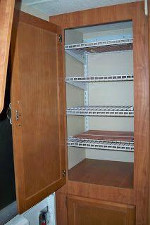 Adventures With Our Lance 1685 Travel Trailer: Upper Left Closet Organizing  Shelf System. Rv StorageStorage IdeasStorage ...