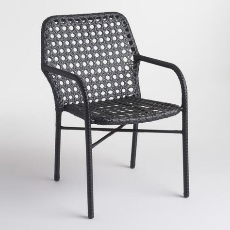 Marvelous Gray Woven All Weather Wicker Andalusia Outdoor Patio Chair Creativecarmelina Interior Chair Design Creativecarmelinacom
