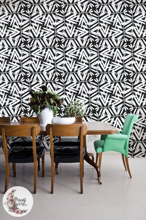 B W Ethnic Removable Wallpaper Reusable Peel And Stick Minimalistic Wall Decor Repositionable Maf111 Simple Wall Mural Removable Home Living Home Decor