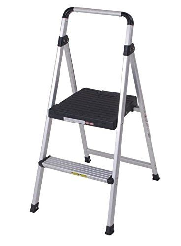 Step Stool Heavy Duty Aluminum Black Color Folding Convenient