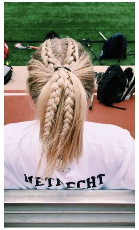Athletic Hairstyles, Softball Hairstyles, Track Hairstyles, School Hairstyles, Pretty Hairstyles, Braided Hairstyles, Cute Sporty Hairstyles, Cute Hairstyles For Summer, Simple Hairstyles