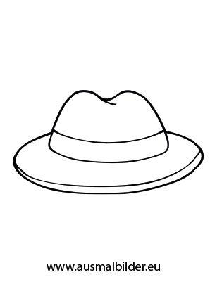 Ausmalbild Hut Ausmalen Ausmalbild Hut