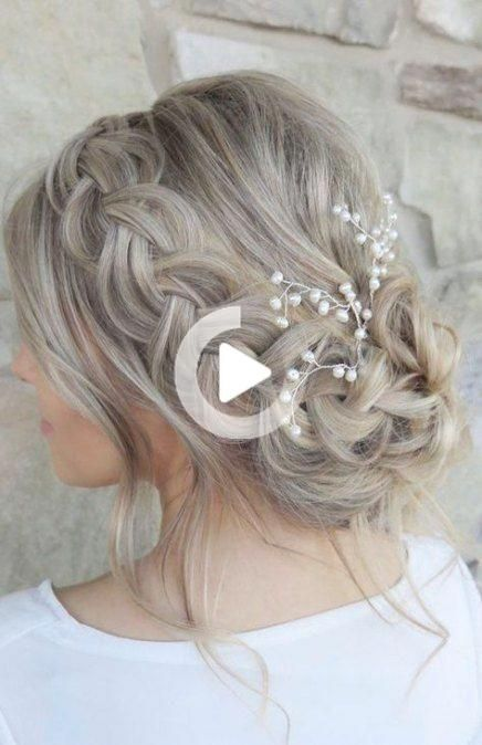 68 Super Ideas For Wedding Hairstyles Medium Length Casual Wedding Hairstyles Braidedupdowedding In 2020 Long Hair Styles Hair Styles Wedding Hair Inspiration