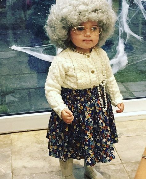 Ladies Grandma Fancy Dress Costume Granny Gran Old Woman Lady Nanny Night Gown