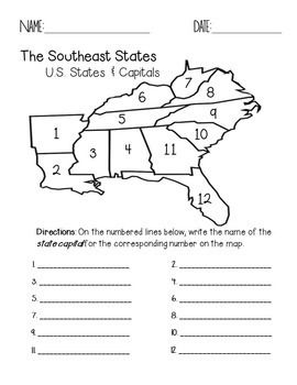Blank Map Of Southeast United States : blank, southeast, united, states, Particular, States, Capitals, Macho, Nacho, Capitals,, United