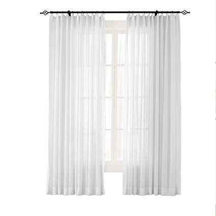 Pinch Pleat Semi Sheer Curtain