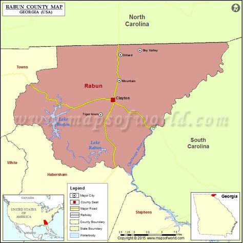 Map Showing Major Attractions In Georgia USA Travel Maps - Map of georgia usa
