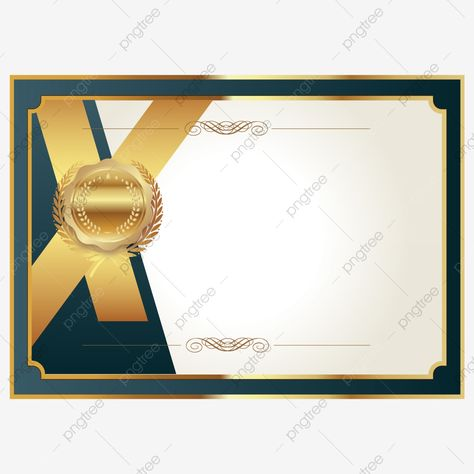 Golden Texture Certificate Certificate Honor Certificate Certificate Border Png And Vector With Transparent Background For Free Download Golden Texture Certificate Border Certificate