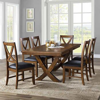 Valentia 7 Piece Dining Room Set Bayside Furnishings