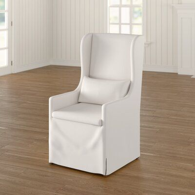 Birch Lane Lefebre Wingback Chair Birch Lane In 2020 Slipcovers For Chairs White Dining Chairs Dining Chair Slipcovers