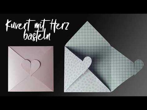 Kuvert Mit Herz Zur Hochzeit Bastelvorlage Plotterfreebie