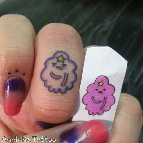 Lumpy space princess little finger tattoo I did on myself ♡♡♡♡ Got my lu. - Top 500 Best Tattoo Ideas And Designs For Men and Women Mini Tattoos, Dream Tattoos, Future Tattoos, Love Tattoos, Body Art Tattoos, Small Tattoos, Tattoos For Women, Tattoos For Guys, Tatoos