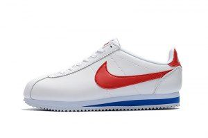 official photos a262c 477f1 Mens Womens Nike Cortez Nylon Sneakers Leather White Red ...