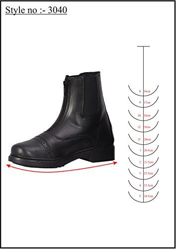 Kids Equestrian Horse Riding English Boots TuffRider Childrens Starter Front Zip Paddock Boots