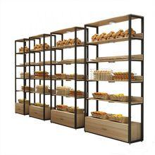 metal wooden food bread shelves display