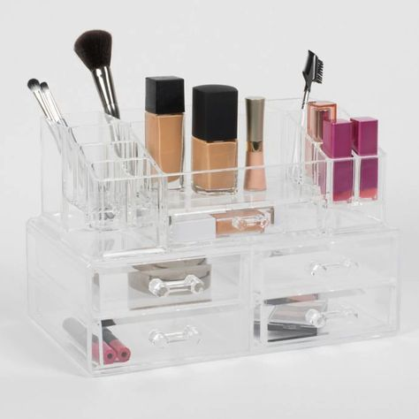 Cosmetique Large 2 Piece 5 Drawer Cosmetique Set Clear Bed Bath Beyond Makeup Case Organization Makeup Organization Makeup Case