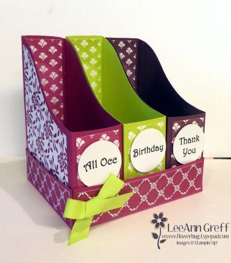 File Style Card Organizer Box With Free Templates And Video Greeting Card Organizer Card Organizer Organiser Box